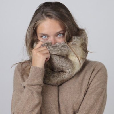 Bufanda/Cuello Barts cálida de pelo sintética para mujer MICKELLE COL Heather brown Ref. 4969009 Marrón jaspeado conejo