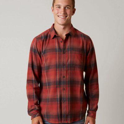 Camisa BILLABONG de Manga Larga franela Hombre Coastline red Ref. F1SH09-BIF7 Cuadros rojos y marino