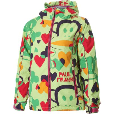 Chaqueta esquí PAUL FRANK niña con capucha Lime Overlap Print Ref. P1W701 Estampada mono (copia)