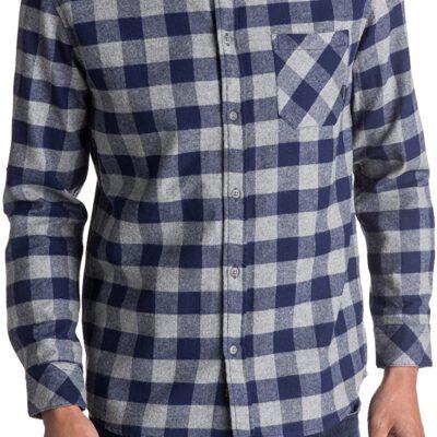 Camisa QUIKSILVER de Manga Larga franela Hombre Motherfly Flannel BTE1 Ref. EQYWT03573 Cuadros azules y grises
