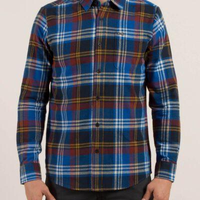 Camisa VOLCOM de Manga larga Hombre FLANAL CUADROS CADEN blue Ref. A0531709 Cuadros azules