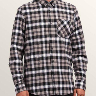 Camisa VOLCOM de Manga larga Hombre FLANAL CUADROS CADEN PLAID black Ref. A0531804 Cuadros negros y blancos