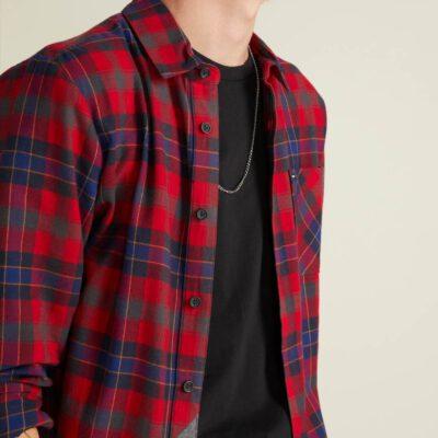 Camisa VOLCOM de Manga larga Hombre FLANAL CUADROS CADEN PLAID ENR Ref. A0531804 Cuadros rojos y azules