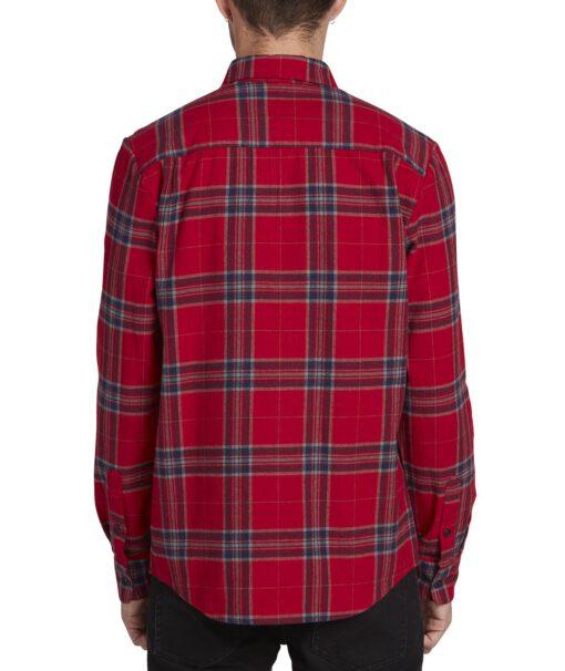 Camisa VOLCOM de Manga larga Hombre FRANELA CUADROS CADEN PLAID RNE Ref. A0531906 cuadros rojos y azules