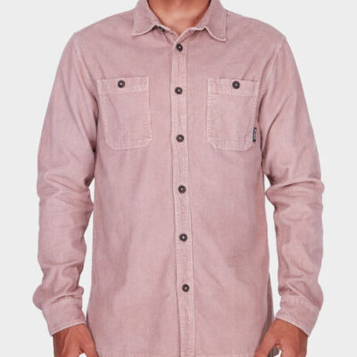 Camisa BILLABONG de Manga Larga Pana Hombre WAVE WASHED CORD pink Ref. L1SH11 BIF8 Rosa palo