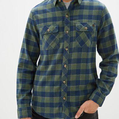 Camisa BILLABONG de Manga Larga franela Hombre All Day Flannel Forest Ref. Q1SH03 BIF9 Cuadros verdes