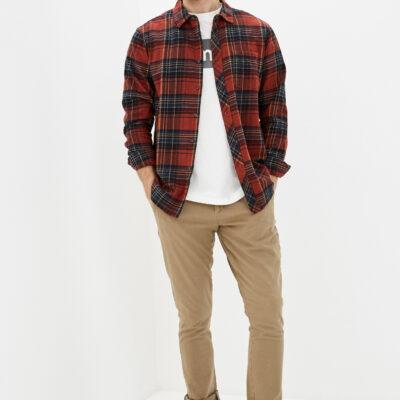 Camisa BILLABONG de Manga Larga franela Hombre Coastline sangria Ref. Q1SH04-BIF9 Cuadros rojos y marino