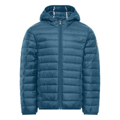 Chaqueta con capucha Jott de plumas pato Niño HUGO BASIC 185-LIGHT DENIM Justoverthetop Color azul