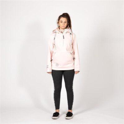 Sudadera Nieve NIKITA Mujer con capucha Softshell 3K RADIO PO HOODIE Blush Pink Ref. NMWFRAD-BSH Rosa palo