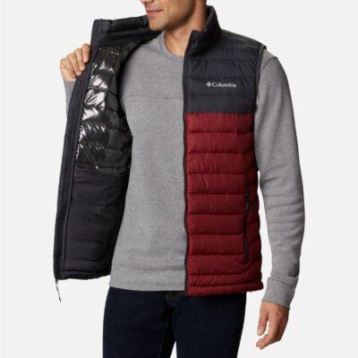 Chaleco COLUMBIA Invierno con aislamiento Thermarator™ para hombre cálido Powder Lite Ref.1748031664 Red Jasper, Shark gris y granate
