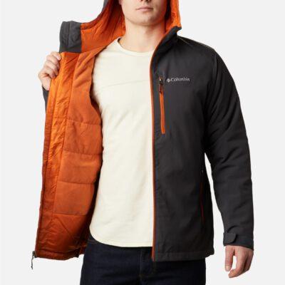 Chaqueta forro polar COLUMBIA con capucha y aislamiento para hombre Softshell Gate Racer™ Shark, Harvester Ref. 1557532012 Gris oscura