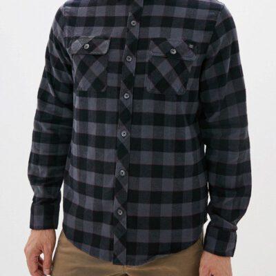 Camisa BILLABONG de Manga Larga franela Hombre All Day Flannel Ref. Q1SH03 BIF9 Cuadros negros detalles rojos