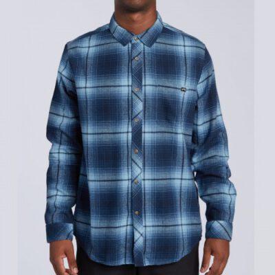 Camisa BILLABONG de Manga Larga franela Hombre Coastline Ls Navy Ref. U1SH12 BIF0 Cuadros tonos azules