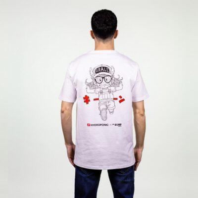 Camiseta Hombre HYDROPONIC manga corta T-SHIRT ARALE SS CLASSIC Ref. 20001 White blanca