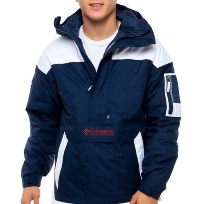Chaqueta COLUMBIA con capucha y aislamiento para hombre invierno cálida Challenger™ Pullover Collegiate Navy White Ref. 1698431468 azul y blanca