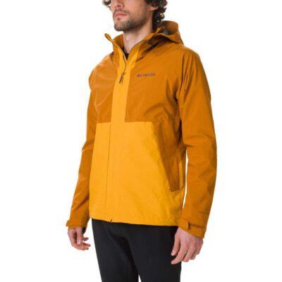Cortavientos COLUMBIA con capucha y aislamiento para hombre ligera Evolution Valley™ Ref. 1773843795 mostaza y camel