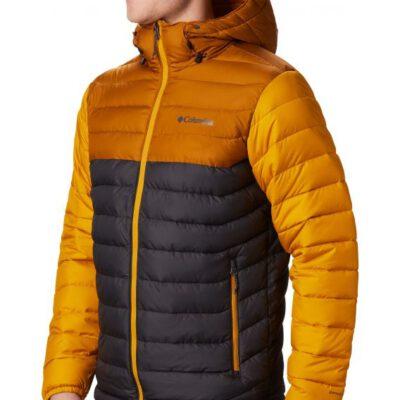 Chaqueta COLUMBIA con capucha y aislamiento para hombre cálida Powder Lite™ Hooded Jacket Ref. 1693631012 mostaza