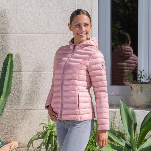Chaqueta con capucha Jott de plumas pato Mujer CLOE BASIC 4900/710 Abricot Justoverthetop Color Albaricoque