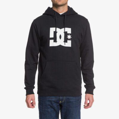 Sudadera DC SHOES Hombre con capucha STAR BLACK/WHITE (xbbw) Ref. EDYSF03165 negra logo blanco
