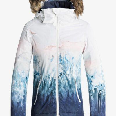 Chaqueta esquí ROXY niña con capucha pelo sintético Jet Sky BRIGHT WHITE_SNOWYVALE (wbb7) Ref. ERGTJ03061 tintas gradientes
