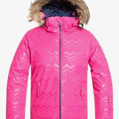 Chaqueta esquí ROXY niña con capucha pelo sintético Jet Ski BEETROOT PINK AZTECSPIRITEMBOS (mml3) Ref. ERGTJ03079 Fucsia