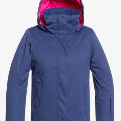 Chaqueta esquí ROXY niña con capucha Jetty MEDIEVAL BLUE (bte0) Ref. ERGTJ03083 azul detalles fucsia