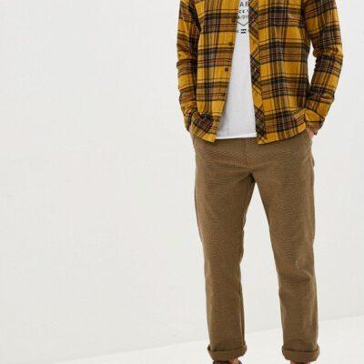 Camisa BILLABONG de Manga Larga franela Hombre Coastline GOLD Ref. Q1SH04-BIF9 Cuadros mostaza