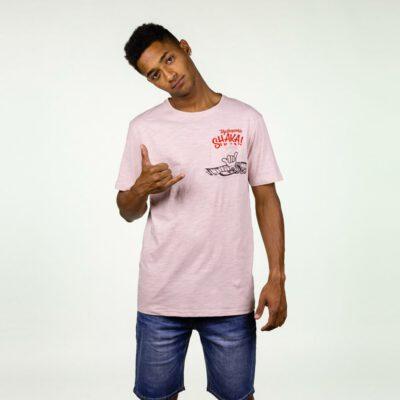 Camiseta Hombre HYDROPONIC manga corta T-SHIRT SHAKA SS CLASSIC Ref. 20017 Misty Rose rosa palo