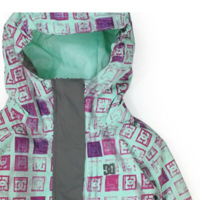 Chaqueta esquí DC SHOES niña con capucha Yucca Monogram Ref. ADGTJ00002 Verde agua logos rosas