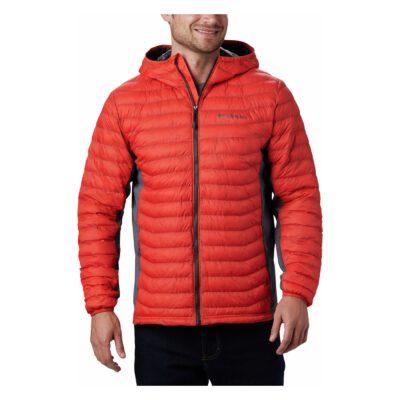 Chaqueta COLUMBIA con capucha y aislamiento para hombre cálida Powder Pass™ Hooded Jacket Ref.1773271845 Roja y gris