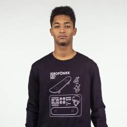 Camiseta Hombre HYDROPONIC Skate manga larga T-SHIRT HYKEA LS CLASSIC Ref. 19512 Black Negra