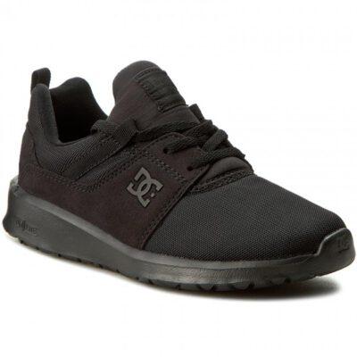 Zapatillas malla y ante DC SHOES para hombre HEATHROW BLACK/BLACK/BLACK (3bk) Ref. ADYS700071 Negra