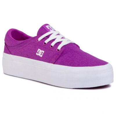 Zapatillas plataforma DC Shoes para mujer de lona TRASE Purple Ref. ADJS300184 Púrpura morado