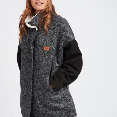 Chaqueta BILLABONG Forro Sherpa interior forrada borrego para Mujer Blackmoon Ref. L3JK03 Negra y gris