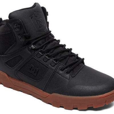 Botas altas impermeables DC SHOES para hombre PURE HIGH-TOP WR BOOT Blak/Gum (BGM) Ref. ADYB100006 Negro/goma