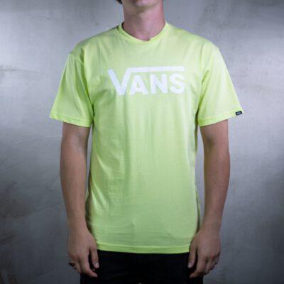 Camiseta Hombre VANS manga corta chico mn vans classic Ref. VN000GGGTJZ verde lima fosforito