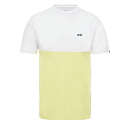 Camiseta Hombre VANS manga corta mn COLORBLOCK TEE dress blu ref.VN0A3CCDTK6 WHINE /SUN blanca amarilla