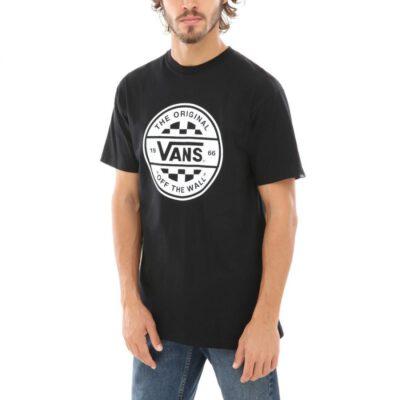 Camiseta Hombre VANS manga corta CHECKER CO ref.VN0A3W5IY28 negro logo blanco