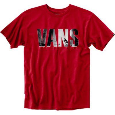 Camiseta manga Corta niño VANS by push through boys CARDINAL REF .V5CHCAR granate skate