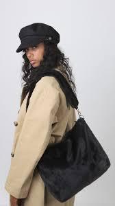 Bolso BARTS de hombro de pelo sintético suave mujer KARA SHOPPER Ref. 4966001 black negro
