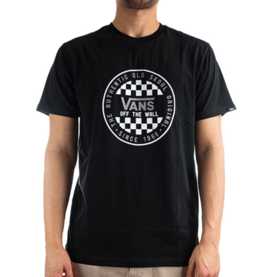 Camiseta Hombre VANS manga corta MN OG CHECHER SS Ref. VN0A49SYBLK Negra