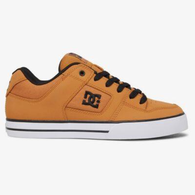Zapatillas de piel cuero DC SHOES para hombre PURE Wheat/Black Ref. 300660 Camel marrón claro