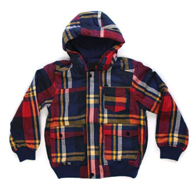 Chaqueta exterior niño QUIKSILVER con capucha Maratuna Jacket Ref. KKBJK172 Cuadros rojo y marino