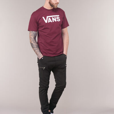 Camiseta Hombre VANS manga corta chico mn vans classic Ref. VN00GGGZ28 burgundy white GRANATE