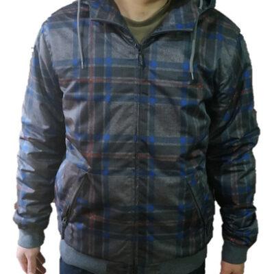 Chaqueta invierno Rip Curl hombre nieve acolchada con capucha cálida Bank Hooded Jacket Ref. CJY3GJ Gris cuadros