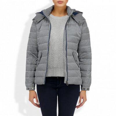 Anorac Nieve ROXY acolchada con capucha para Mujer MIDTOWN Ref. WTWJK163 cuadraditos azules y grises