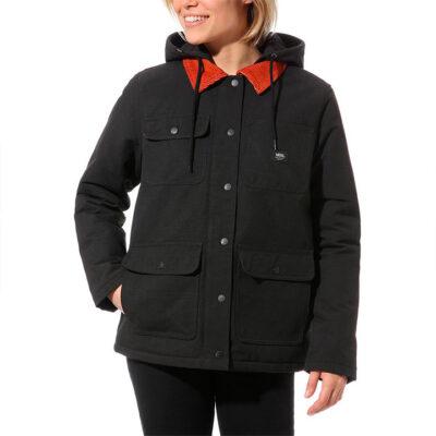 Abrigo VANS acolchada con capucha para Mujer Drill Chore Coat Mte Ref. VN0A4BFPBLK Negra