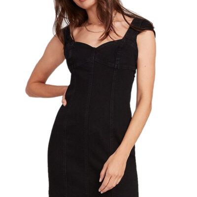 Vestido volcom Tejano Mujer IM NOT SWEET DRESS - PREMIUM WASH BLACK jeans Ref. B1341905 Negro tejano