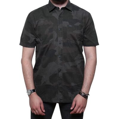 Camisa VOLCOM Manga Corta para Hombre CLUTCH SHIRT Ref. A0411707 Camuflaje verde
