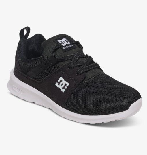 Zapatillas malla y ante DC SHOES para niño HEATHROW BLACK/WHITE (bkw) Ref. ADBS700047 Negra y blanca